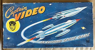 Vintage 1950s CAPTAIN VIDEO TV Show SPACE GAME By Milton Bradley Used
