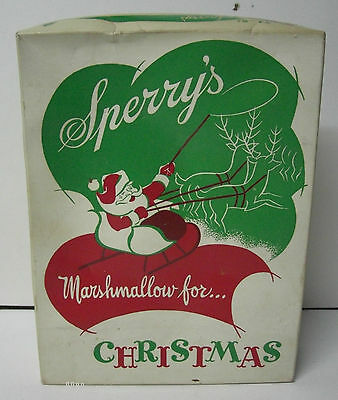 Old SPERRY'S of Milwaukee Wisconsin - Marshmallow Christmas Candy Box