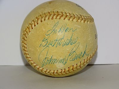 Johnny Bench Official Babe Ruth League Spalding 174 Autographed Baseball MLB