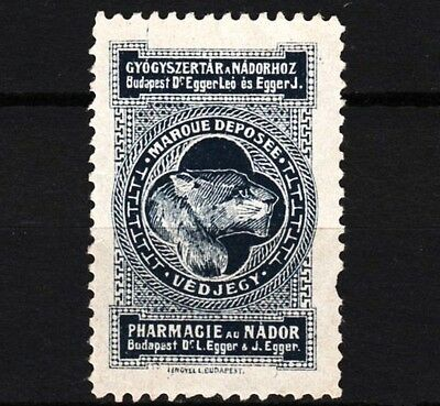 old hungarian poster stamp 1900-1920, pharmacy au nador /e7701