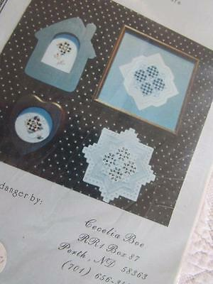 Vtg HARDANGER Pattern Chart STARS for BAZAARS Ornaments Classic Designs CECELIA
