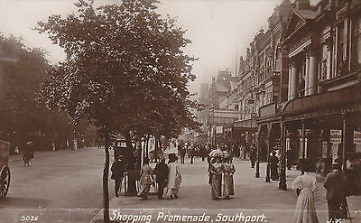 RP Postcard shopping prom Southport  1907