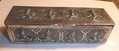 Antique Indian Solid Silver Box