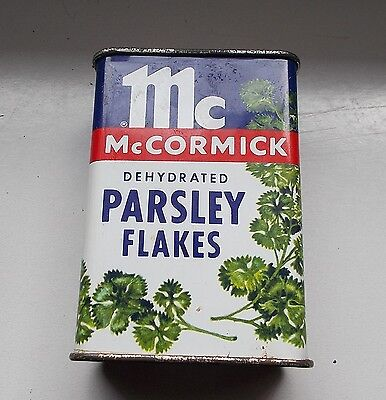 alte Blechdose McCormick  Parsley Flakes Gewürzdose Baltimore-San Francisco