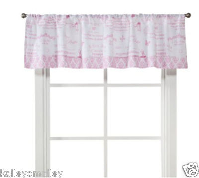 Castle Hill Pirouette Baby Valance For Nursery - Pink - 60x14