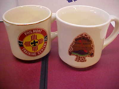 2- BOY SCOUT MUGS CUPS Philmont Order of the arrow