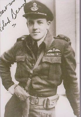 ROLAND BEAUMONT - British fighter pilot -  signed album card & PIC