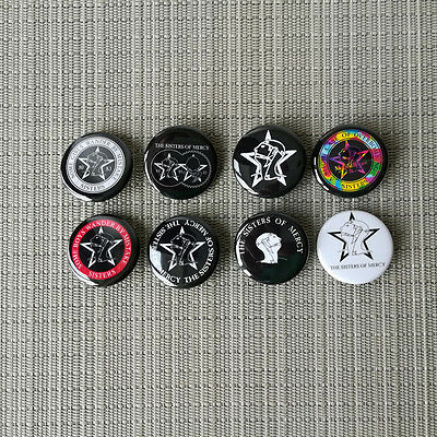 8 Sisters Of Mercy Button / Pin / Badge / 1.25 Inch / 32 mm / Dark Wave Gothic