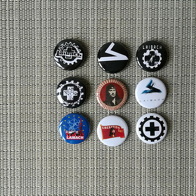 9 Laibach Button / Pin / Badge / 1 Inch / 25 mm / Industrial / Punk / Rock