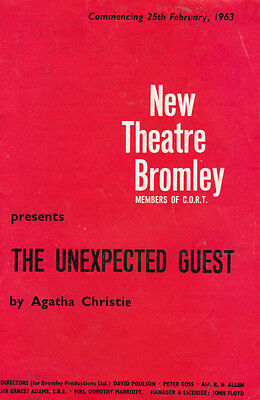 Sheila Hammond The Ugly Duckling Film Agatha Christie Bromley Theatre Programme