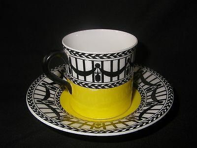 Royal Worcester Yellow and Black Cup and Saucer