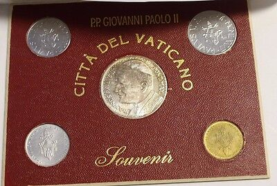 Vatican City 1977 Pope Paul VI Souvenir  10 20 50 100 Lire Medal silver plated