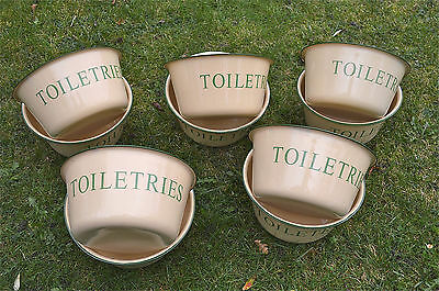 Wholesale Deal 10 Vintage Style Large Yellow Metal Toiletries Bowl Dish Holder