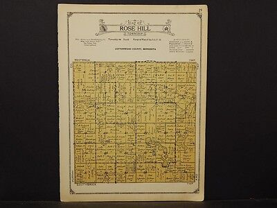 Minnesota, Cottonwood County Map, 1926 Township of Rose Hill Y1#50