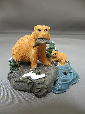 New Christmas Village Animals Grizzly Bear Cub Holiday Accessory Accessories