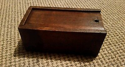 Nice old wooden box (could be used for chess pieces)