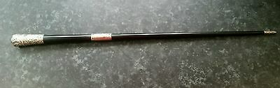 Stunning Antique 1883 Swagger Stick with Solid Silver