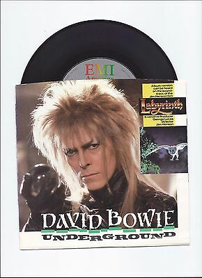 David Bowie Original Single Underground From Usa