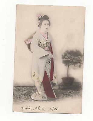 Gesha Girl in Traditional Japanese Costume,PPC 1904