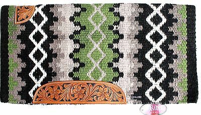 34x36 Horse Wool Western Show Trail SADDLE BLANKET Rodeo Pad Rug  36328C