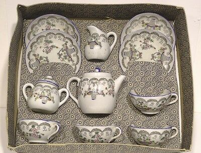 c1900 Child's Tea Set in OB Porcelain with hand painting