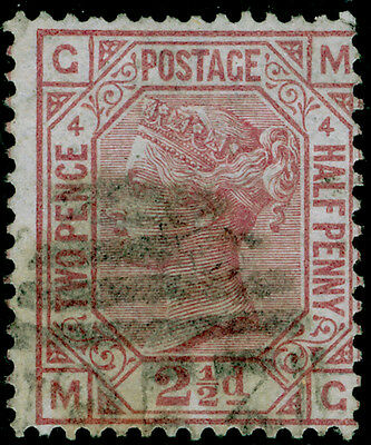 Sg141, 2½d rosy mauve plate 4, used. Cat £60. MG