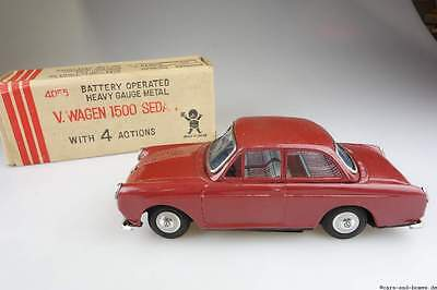 old Bandai Japan Blech battery operated Volkswagen 1500 VW litho tin 4055 102076