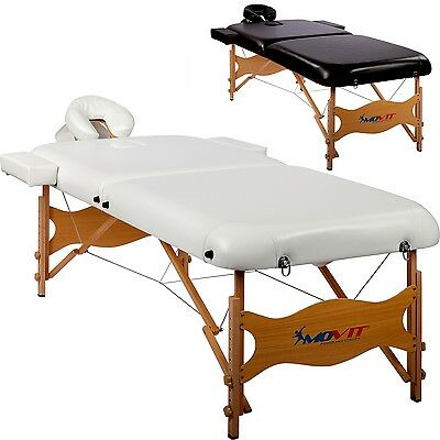 MOVIT Deluxe Massage table massage table in Set - 80 cm wide, White