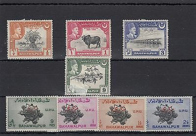 Bahawalpur.8 -- Mounted Mint 1949 Stamps On Stockcard