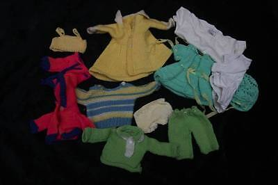 VINTAGE JOB LOT 1970s Dolls clothes for a small doll (4435)
