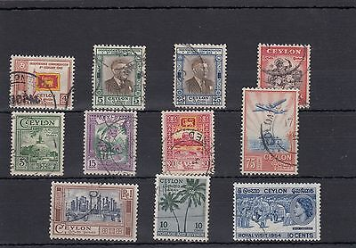 Ceylon.11 ---1952/4 Used Stamps On Stockcard