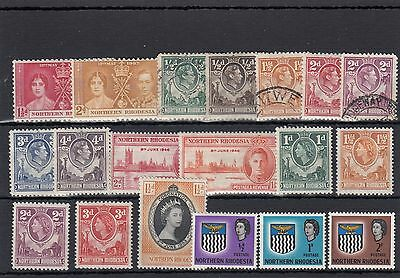 Northern Rhodesia.19 -- G6/qe2 Mounted Mint/ Used Stamps On Stockcard