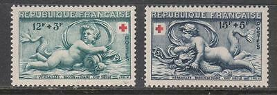 FRANCE - 1952.  Red Cross Fund - Set of 2, MH