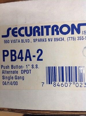 SECURITRON - PB4A-2 - Push Button,  MOM, LED, SG, DPDT, RTE