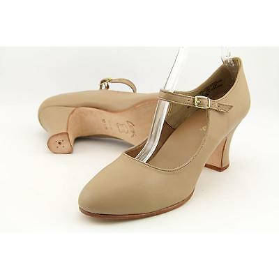 Capezio Manhattan Character Women US 10.5 Nude Dance Pre Owned  1368