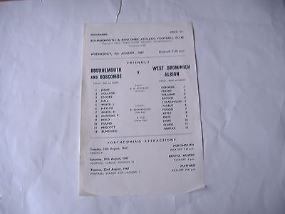 Bournemouth v West Bromwich Albion,  Friendly, ( 9/8/1967)