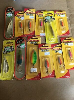 New In Package Johnson Spoons. Silver Minnow, Sprite, Shutter Fishing Lures