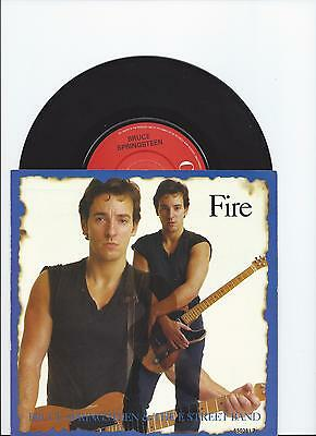 Bruce Springsteen Fire/for You Live Versions Single From Uk