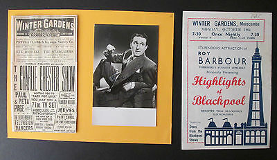 MORECAMBE WINTER GARDENS SIGNED PHOTO & PROGRAMME - Charlie Chester & Blackpool