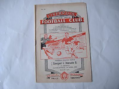 Liverpool v Doncaster Rovers, ( 2/4/1956)  Division 2.