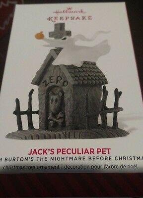 2014 Hallmark Jack's Peculiar Pet Nightmare Before Christmas ZERO Ornament