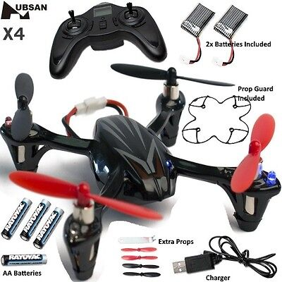 Hubsan HICH107LBS X4 H107L Quadcopter Black / Silver with Radio & 2x Battery