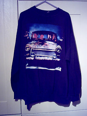 "U2 - 1991 Vintage ""achtung Baby"" Black Long Sleeve Sweatshirt"