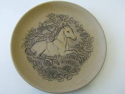 Beautiful POOLE pottery plate PONY Barbara Linley Adams initialled