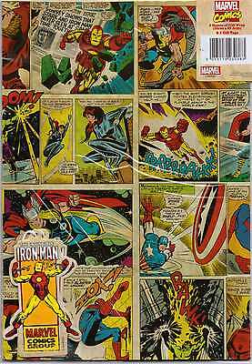 Marvel Comics Avengers Iron Man Thor 2 sheets gift wrap & 2 tags Wrapping Paper