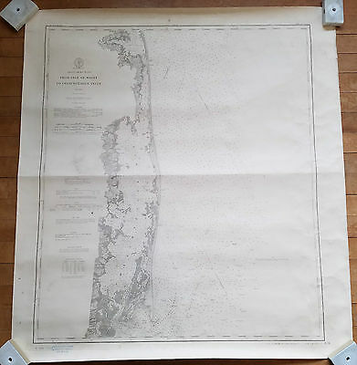 Original 1866 Map Chart Isle Of Wight To Chinoteague Inlet No Reserve
