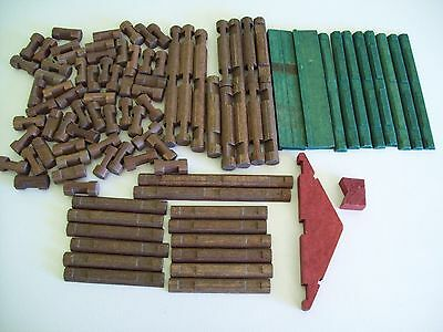 Lincoln Logs Lot Log Cabin Building Toys 120 pieces