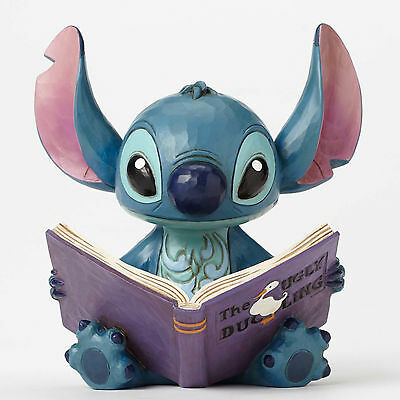 Disney Traditions Jim Shore STITCH with Ugly Duckling Storybook Figurine 404865