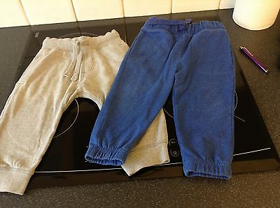 Boys Trandy Next Casual Trousers Two Pair Age 12 - 18 Months