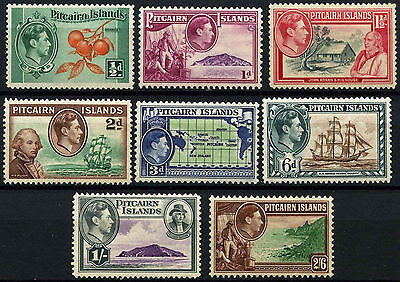 Pitcairn Islands 1940-51 KGVI x 8 MH Stamps #D42442